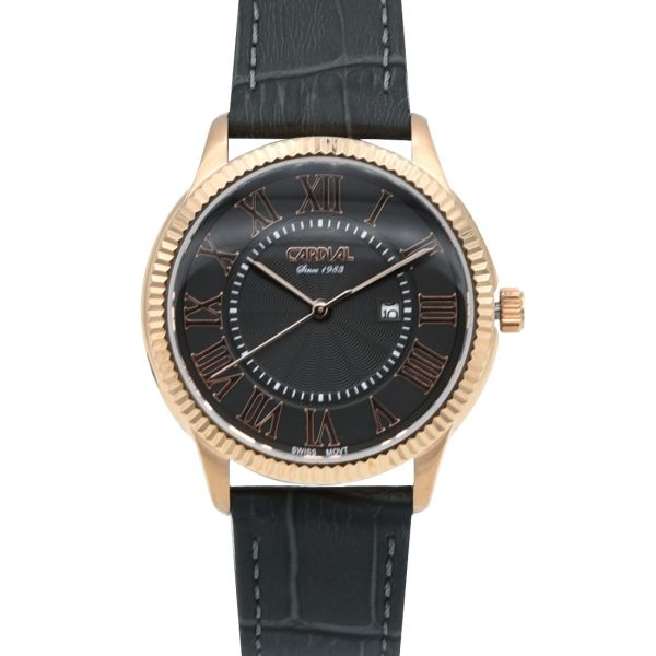 Cardial Gray Leather Women's Watch 9740