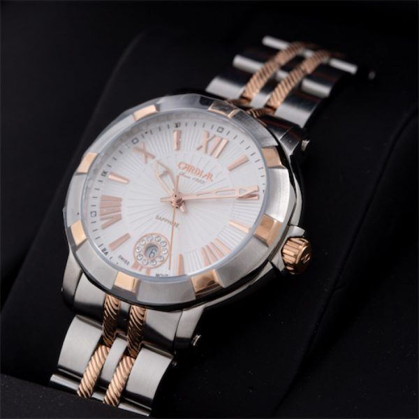 Cardial Silver Women's Watch, Rose Gold Ring, 20521