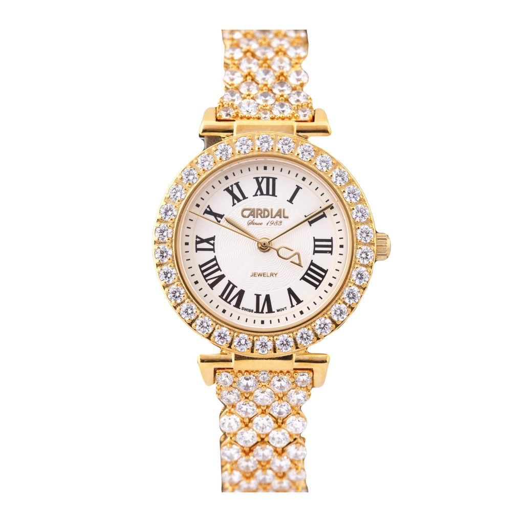 Cardial Gold Women's Watch 20540 with Crystal Bracelet