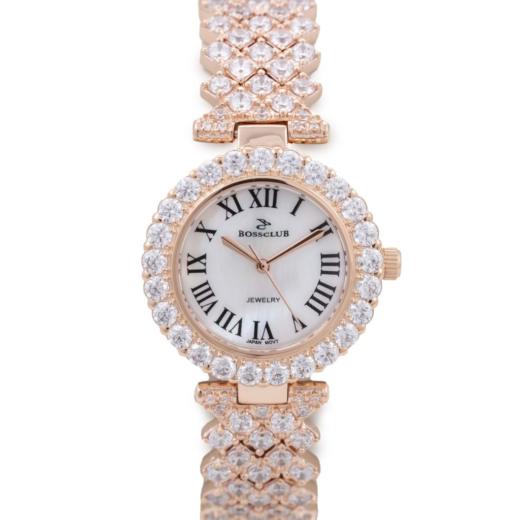 Boss Club Rose Gold Women's Watch 8481 with Crystal Bracelet